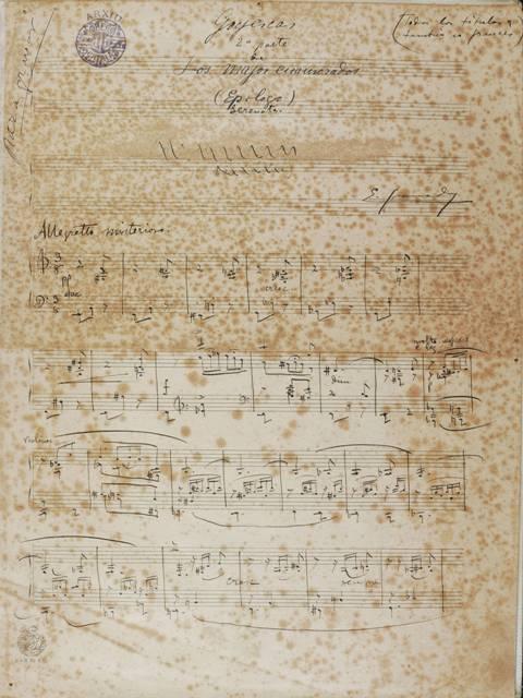 Manuscritos de Goyescas